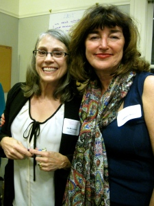 "Managing Editor Jan McCutcheon and Professor Cathy Miller of San José State University (who was the inspiration for ""TWO""!)"