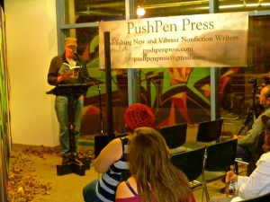 Chris Krohn, our NewYork-in-Cali writer, and former mayor of Santa Cruz, reads one of his stories.